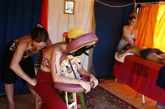Avec Samantha, Différents massages proposés