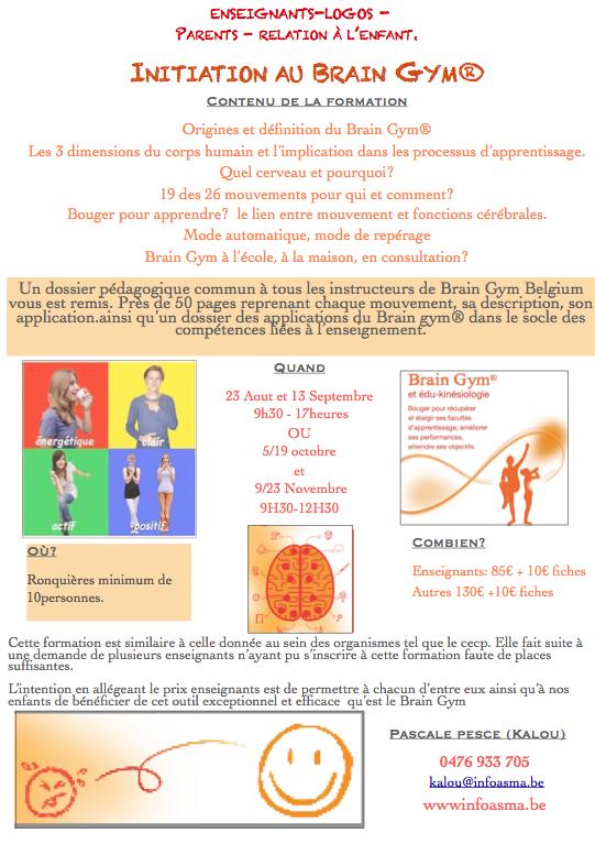 Initiation brain gym